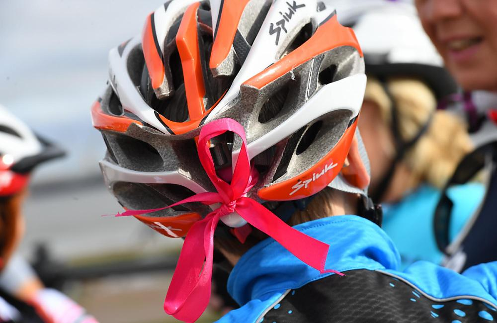 Ribbons were tied to helmets