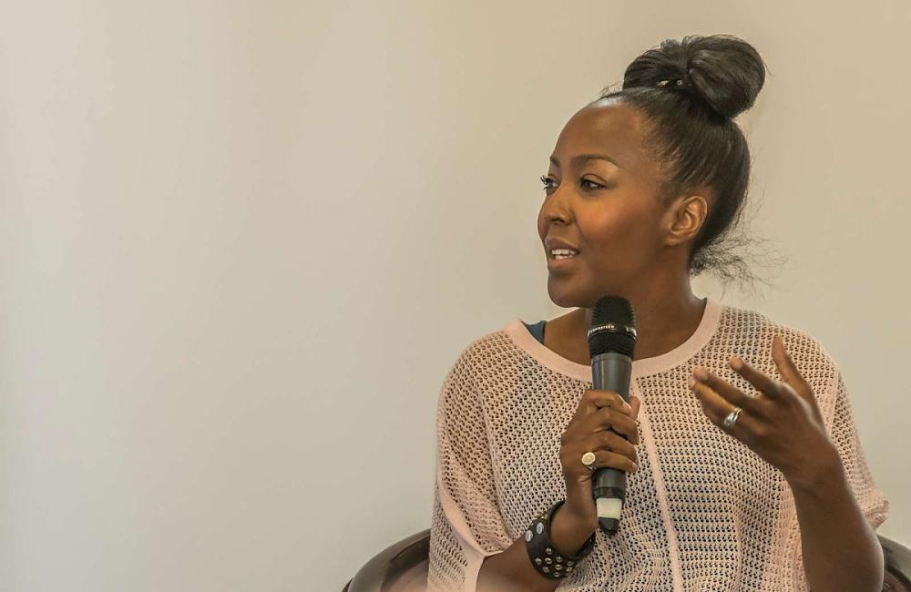 TV and radio presenter Angellica Bell