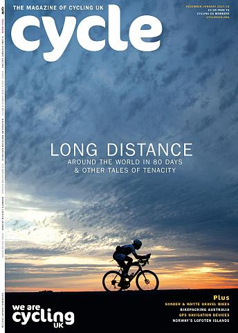 Cycle magazine, front cover Dec 2017