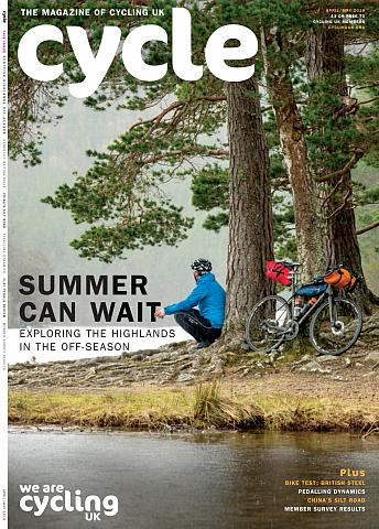 Cycle magazine, front cover April 2018