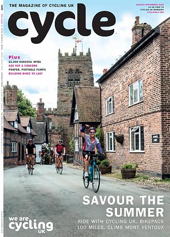 Cycle magazine, August September 2018 Cover