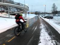 Cyclist in Oslo