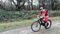 Rider dressed up as Father Christmas