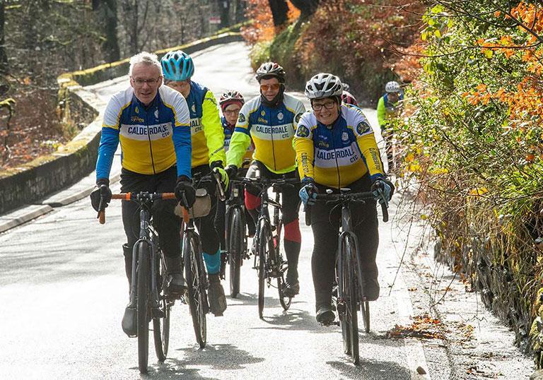 Calderdale cycling touring club cycling uphill