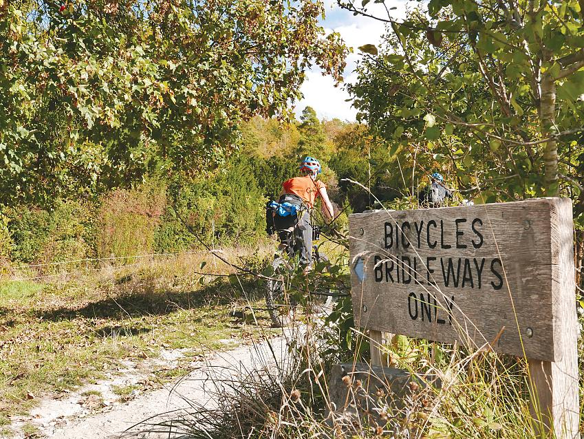 Riding up the Box Hill Bridleway. Photo Sam Jones