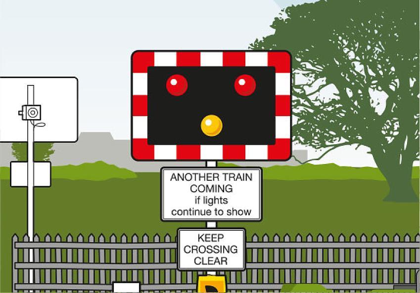 Warning lights sign