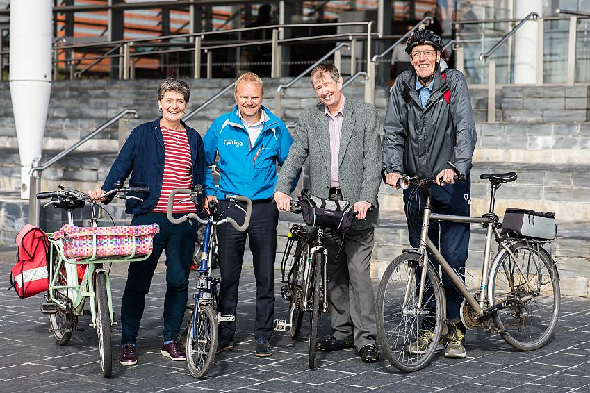 Organisers and supporters of Cycle on the Senedd.
