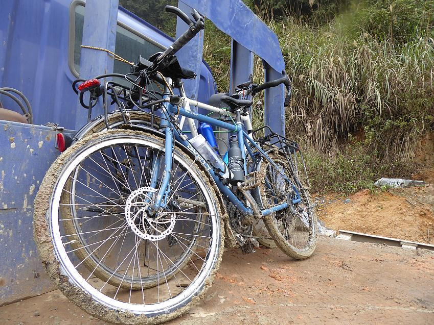 Bikes on a lorry