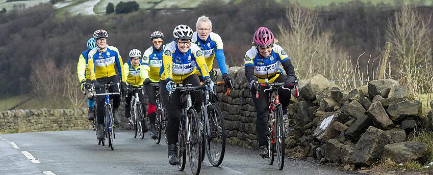 A Cycling UK group on a club run