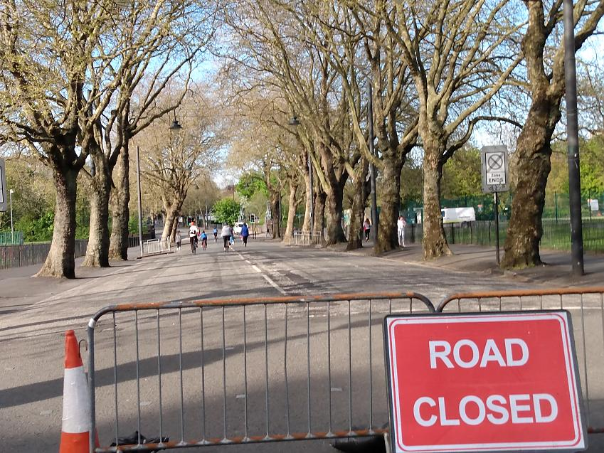 The Kelvin Way in Glasgow, which was closed to motor traffic early in the lockdown