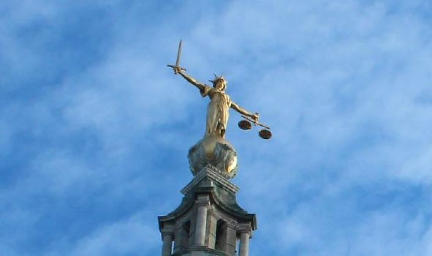 Statue of scales of justice