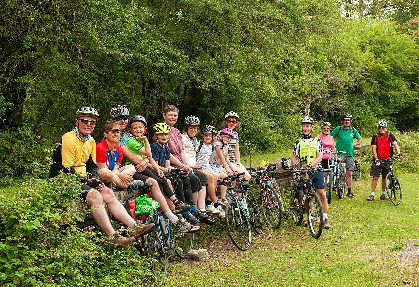 Riders enjoying a breather