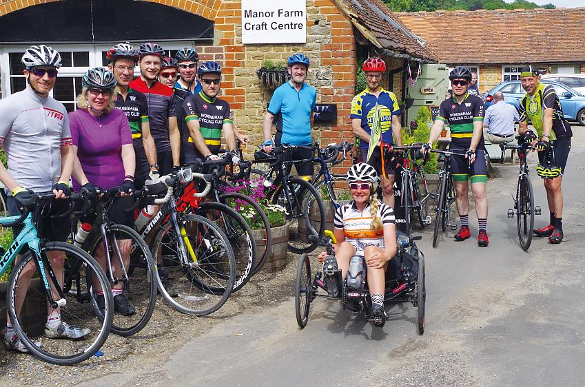 Natalie with fellow club mates from Wokingham Cycling Club