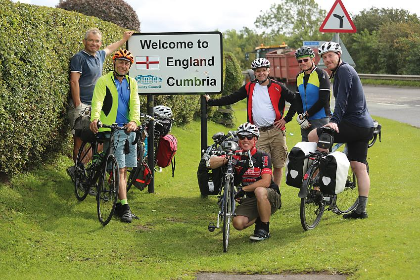 Neil and friends at Gretna Green