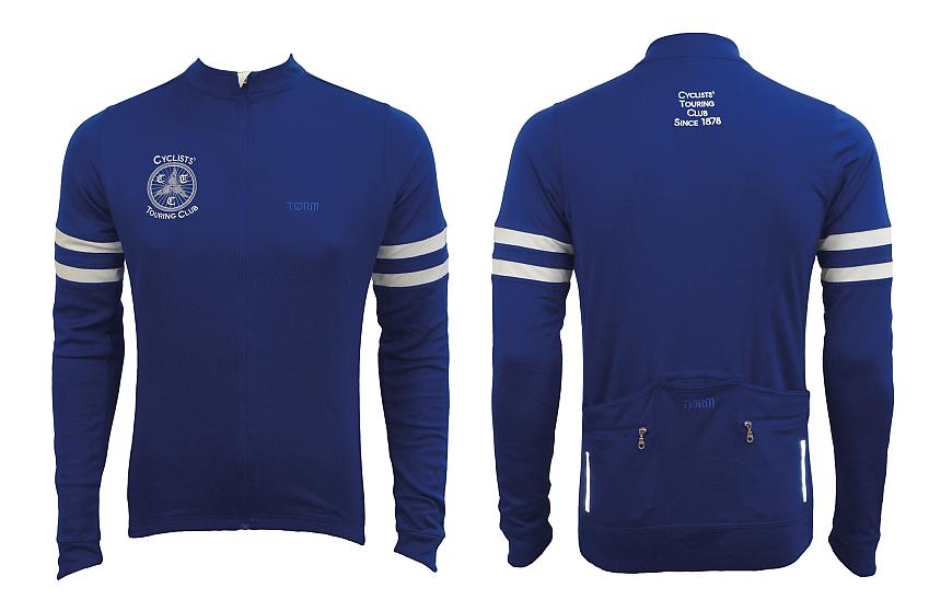 Long sleeved Cycling UK heritage jersey