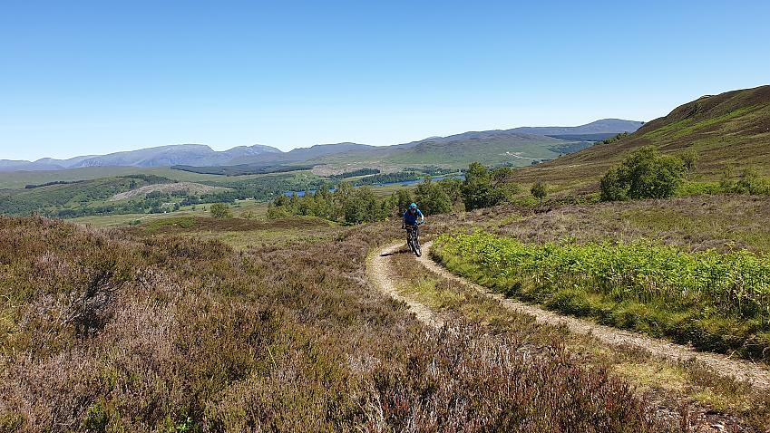 Mountain biker in Scottish Highlands