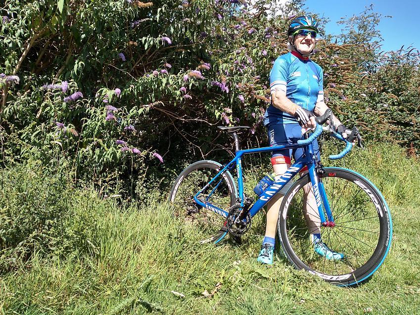 Alan with his bike. Photo by Alex Cuppleditch