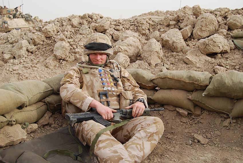 Chris Alston in Iraq