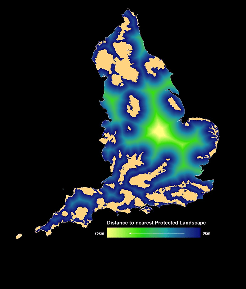 Accessibility of National Parks and AONBs