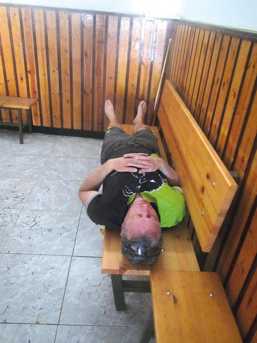 Bikepackers will sleep anywhere