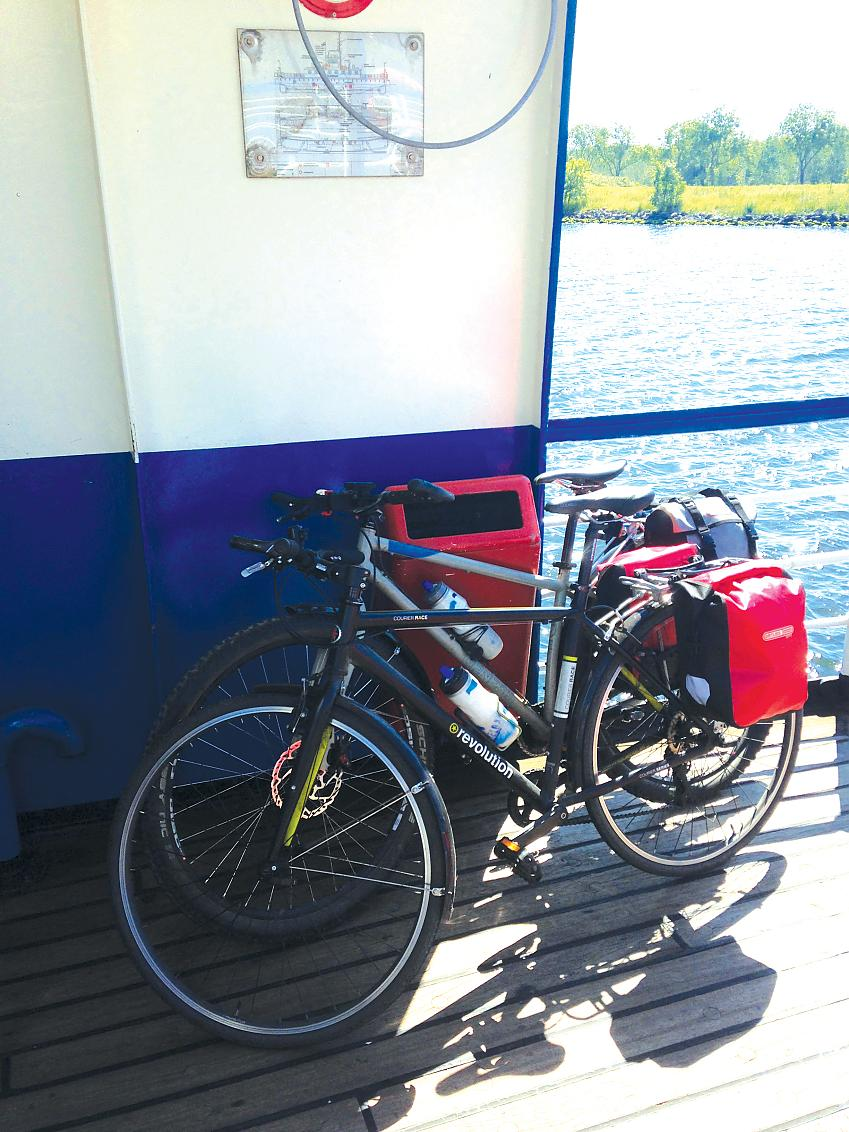 Longitude on tour, with small panniers. Bar bag not shown