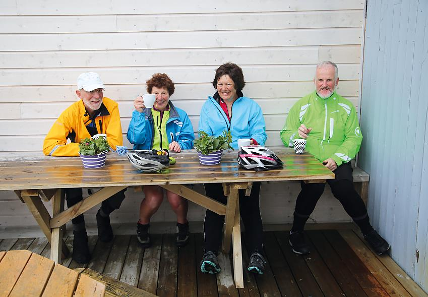 Barney, Linda, Linda and Martyn at Coffee Shop