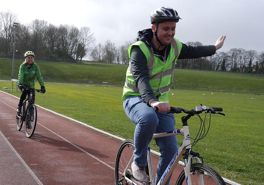 Dan says cycling has helped with his mental health