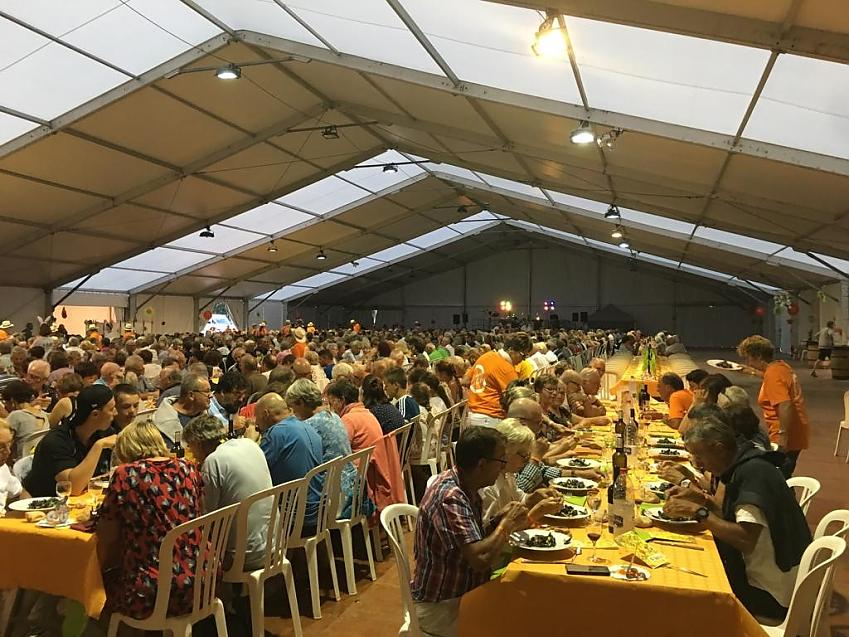 Diners in the marquee