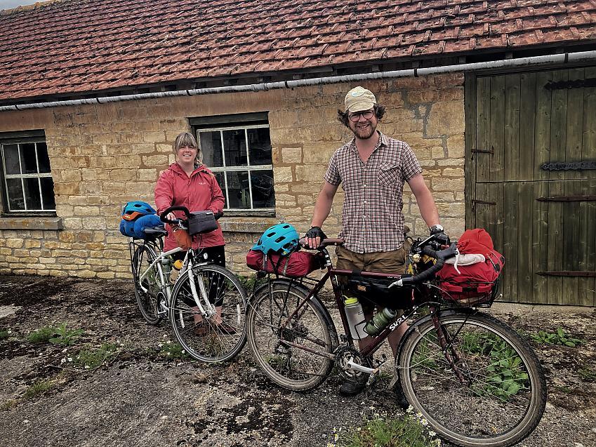 Two bikepackers
