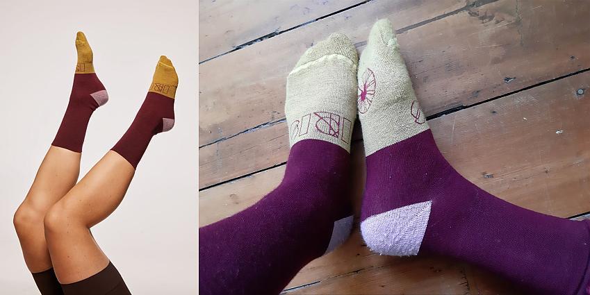 IRIS merino Pansy Purple socks