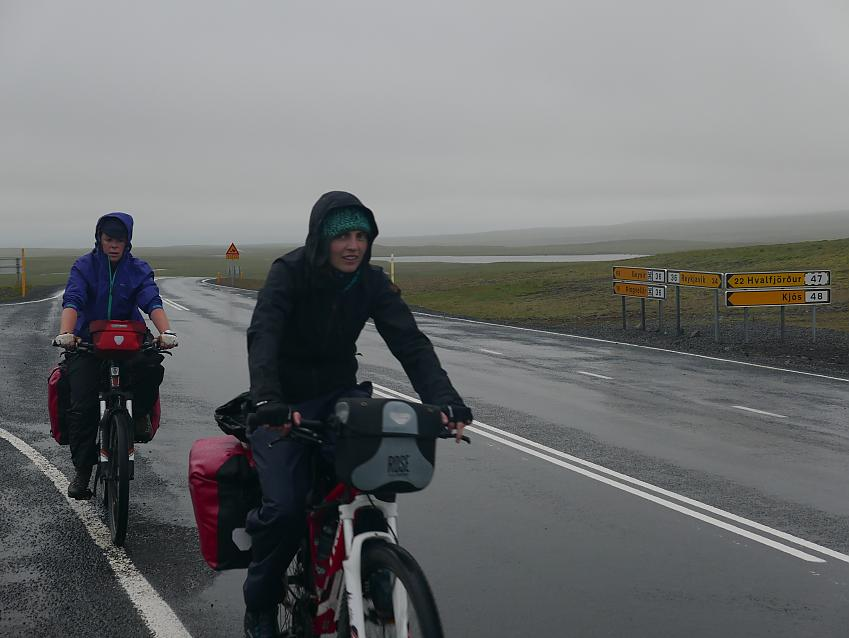 Riders of the storm on the road back to Reykjavik
