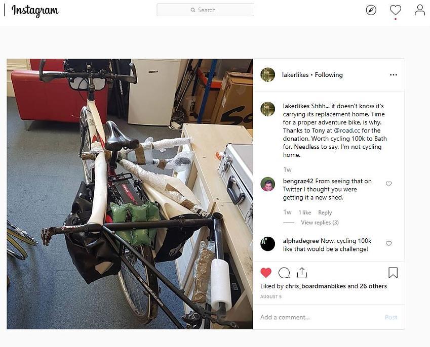 Laura Laker's new bike