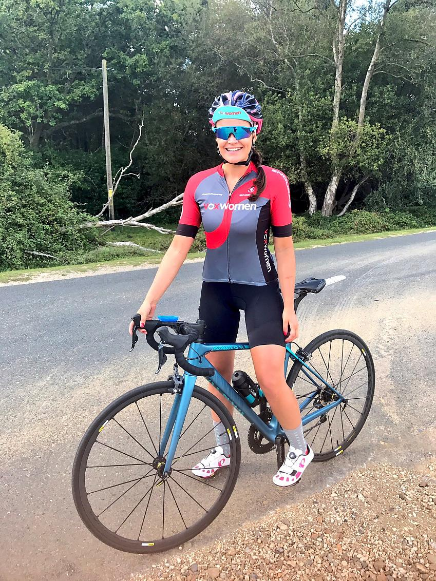 TV presenter and cyclist Laura Winter