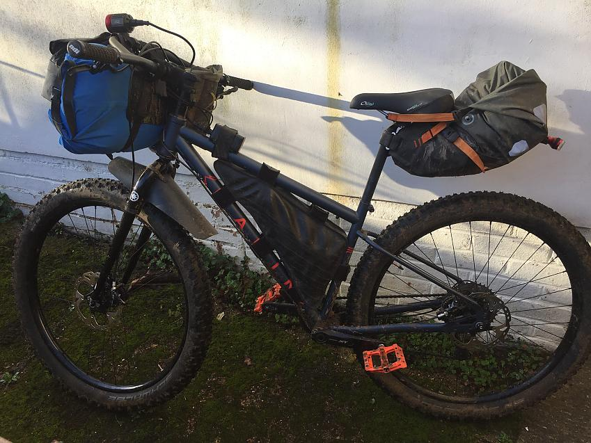 Orlieb Seat-pack (11L) on a mountainbike