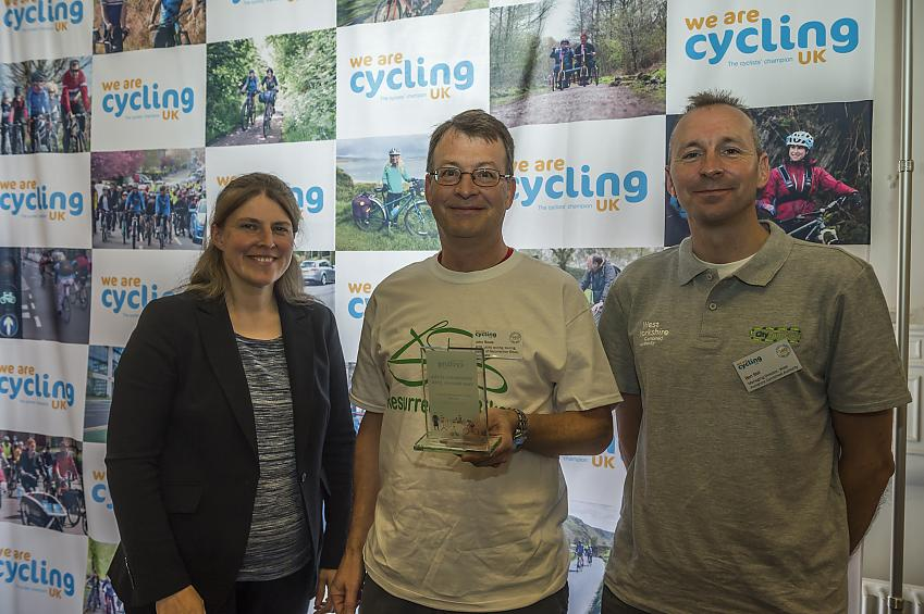 John Rowe picks up the award for Resurrection Bikes