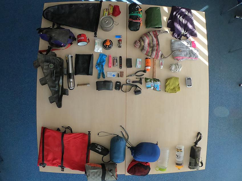 Kit for a bikepacking adventure