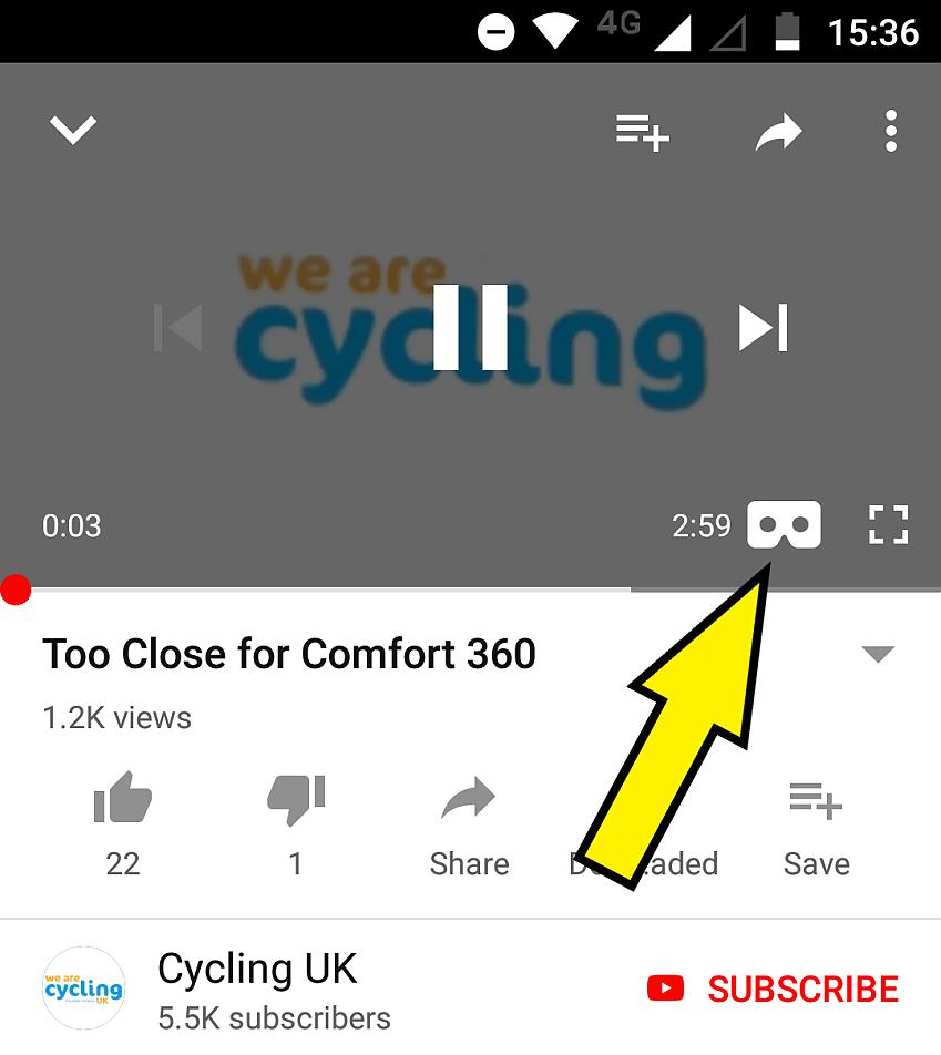 Select the 'Google Cardboard' logo