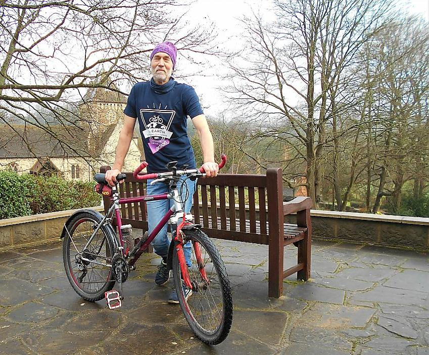 Ted Gomm and his vintage mountain bike