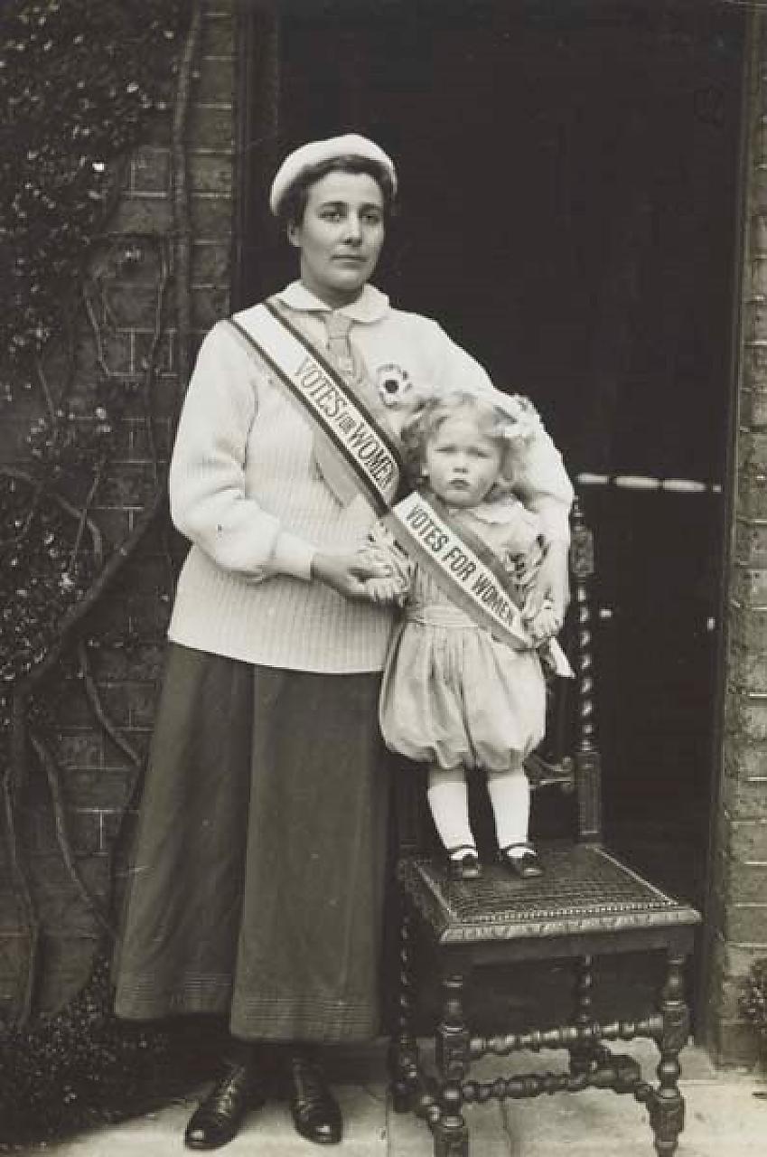 Rose Lamartine Yates with son Paul. Photo, Museum of London