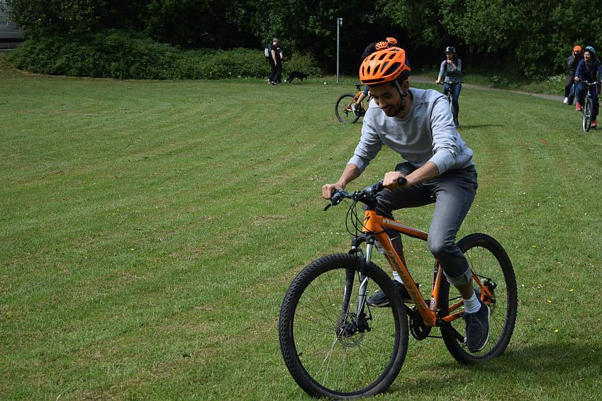 Zak on a Big Bike Revival led ride