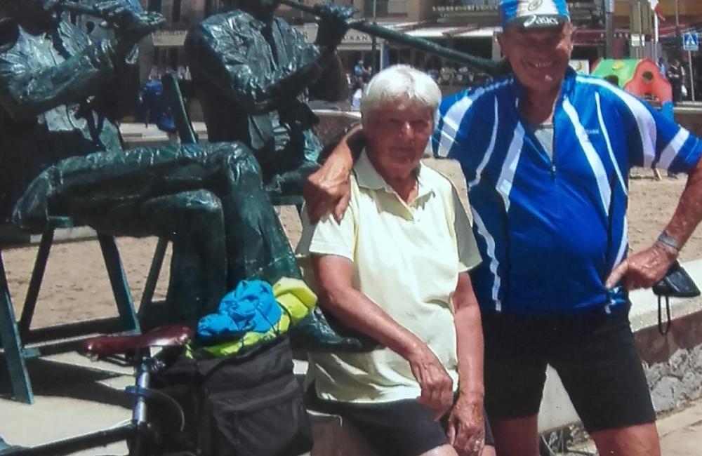 Pamela and Jack in L'Escala, Spain