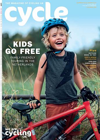 Cycle magazine, front cover Dec 2018
